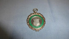 Sterling silver/enamel pocket watch fob/médaille north kensington challenge cup 35