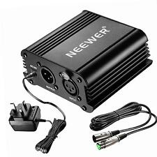 Neewer 1-Channel 48V Phantom Power Supply Black with Adapter