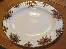 "Royal Albert Old Country Roses Oval Serving Platter 13 1/2"" Bone China 1962"