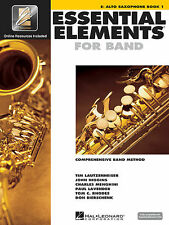 ESSENTIAL ELEMENTS FOR BAND 1 ALTO SAX MUSIC BOOK 1 W/ONLINE CODE SAXOPHONE NEW!