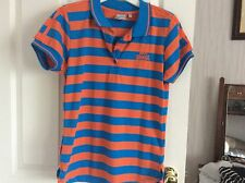 Lonsdale  Women's Polo Short Sleeve T Shirt Size 14 Blue and orange Beautiful