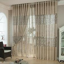 Leaf Tulle Door Bedroom Window Curtain Drape Sheer Scarf Valances Shades Blinds
