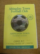 13/10/1990 Abingdon Town v Cove  (Folded).  Thanks for viewing our item, we try