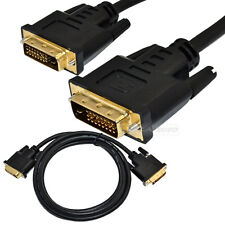 Premium 6ft 1.8m DVI-D 24+1pin Male to male dual Link Gold Plated Cable 1080P