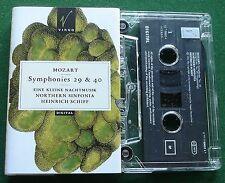 Mozart Symphonies 29 & 40 Northern Sinfonia Heinrich Schiff Cassette Tape TESTED