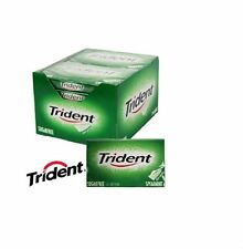 12 CONFEZIONI X Trident MENTA chewing-gum molle PACKET PACKS SUGAR FREE BOX COMPLETO