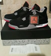 2012 DS Nike Air Jordan Bred 4 IV Black & Red Size 9.5 New With Box & Receipt