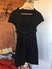 Tokito Women Dress Black Short Sleeve Striped Size10