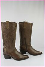 Bottes TEXTO Bouts Pointus Cuir Marron T 37 TBE