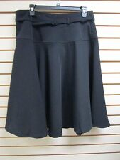 QVC Dialogue Soft Dressing Belted Flared Skirt, Black - Size18W - NWT