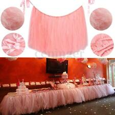80cm x 100cm Tulle TUTU Table Skirt For Wedding Birthday Party Tableware Decor