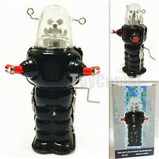 MS207 Black Robby the Robot Space Trooper Crank Wind Tin Toy w/Box