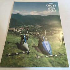 BCS 601 602 Finger Bar Mower Allen Scythe type 1980s? Original Sales Brochure