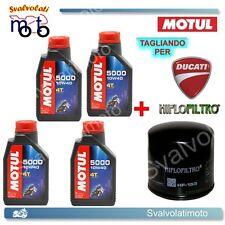 TAGLIANDO FILTRO OLIO + 4LT MOTUL 5000 10W40 DUCATI 749 S 2003 2004 2005 2006