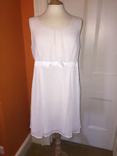 CREATED BY CHIC CREAM SMART PARTY DRESS EURO 46 - 48 UK 18 - 20 BNWT