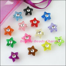70Pcs Mixed Acrylic Plastic Five-pointed Star Spacer Beads Charms 9mm