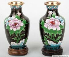 Cina 20. JH. vasi-a SMALL PAIR of Chinese CLOISONNE vases-cinese chinois