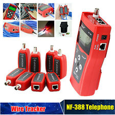 NF-388 Network LAN Cable Tester Wire Tracker Tracer Length RJ45 RJ11 w/8 Remote