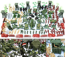 170 pcs Military Plastic Toy Soldiers Army Men 5cm Figures & Accessories Playset