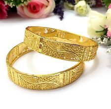 Indian Asian Size:2.6 Bridal Pakistani Jewellery 22ct Gold Plated Bangles