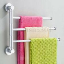 3 Bar/Arm Aluminium Bathroom Wall Mounted Towel Swivel Rack Rail Holder Hanger