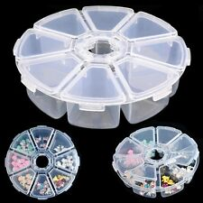 Beads 8 Grids Empty Storage Box Jewelry Container Nail Art Rhinestones Case