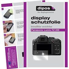 6x dipos Panasonic Lumix DMC fz200 lámina protectora claramente protector de pantalla Lámina
