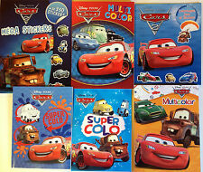 LOT 6 COLORIAGES JEUX ACTIVITES CARS DISNEY avec stickers coloriage CARS 2
