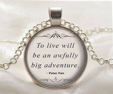 Book quote Cabochon Glass silver necklace for women men Jewelry Q#01