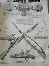 Gravure 1867 Le Fusil à aiguille chassepot et sniders