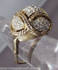 Vintage VENDOME STERLING Rhinestone Cocktail Ring Jewelry