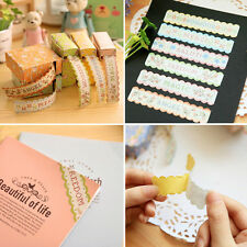 Lovely Paper Floral Sticker Tape Retro Pastoral Stationery Gift Craft DIY Diary