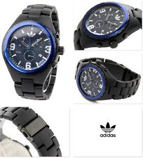 NEW ADIDAS SPECTATOR CHRONO ACRYLC BLACK,BLUE WATCH ADH2526