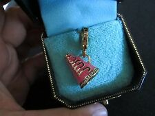 NEW Authentic JUICY COUTURE PINK ENAMEL AND SILVER CHEER MEGAPHONE  CHARM In Box