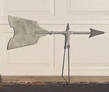 "Antique Primitive Weather Vane Topper Arrow Lightening Rod ~ No Base ~ 38"" x 26"""