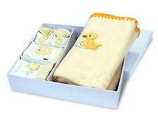 Coffret Cadeau naissance bébé plaid polaire bonnet bavoir chaussons Baby-Bow (J)