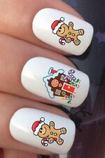 CHRISTMAS NAIL ART SET #767 GINGERBREAD MAN HOUSE WATER TRANSFER DECALS STICKERS