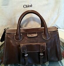 CHLOE Chocolate Brown Edith Handle Bag Retail $1,275