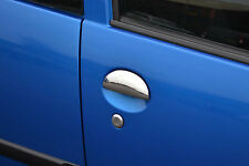 TO FIT PEUGEOT 107: CHROME DOOR HANDLE TRIM SET COVERS 4 DOOR SET