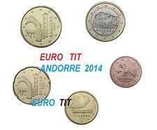 ANDORRE    LA  SERIE  DES   5  PIECES    NEUVES    ANDORRE      2014  disponible