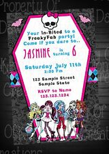 Monster High Birthday DIGITIAL DELIVERY Invitation