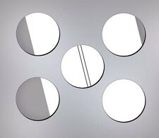 WALL MIRROR ACRYLIC DECALS House Wedding Event Decor, 35 stickers Circles shape