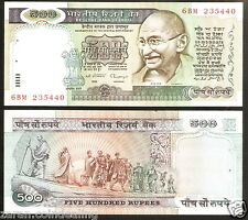 500 Rupees Gandhi Marching C.Rangarajan Blue (3rd Issue) @ UNC Con ( H-3)