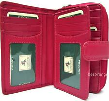 Soft Leather Purse Pink Trifold 16 Cards Visconti New in Gift Box Quality (HT33)