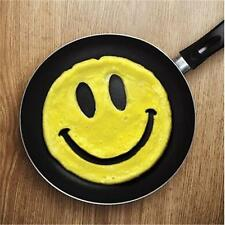 1xSilicone Friends Crack A Smile Smiley Happy Face Egg Pancake Mold Mould Tool Z