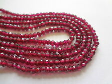"Tiny 3.5-4mm Faceted Rondelle Garnet Semi Precious Gemstone Beads, 13.5"" Strand"