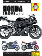 Haynes Manual 4795 Honda CBR600RR CBR600RR-7 - CBR600RR-9 - CBR600RR-C 2007-2012