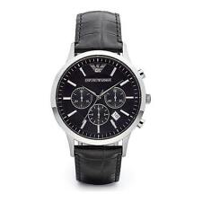 NEW EMPORIO ARMANI AR2447 MENS STEEL CHRONOGRAPH WATCH - 2 YEAR WARRANTY