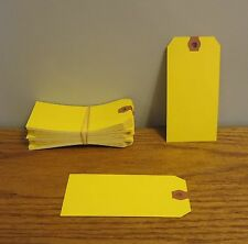 150 AVERY DENNISON YELLOW COLORED SHIPPING TAGS INVENTORY CONTROL SCRAPBOOK  TAG