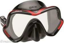 Mares One Vision Mask FreeDive Scuba Diving Dive Black Red